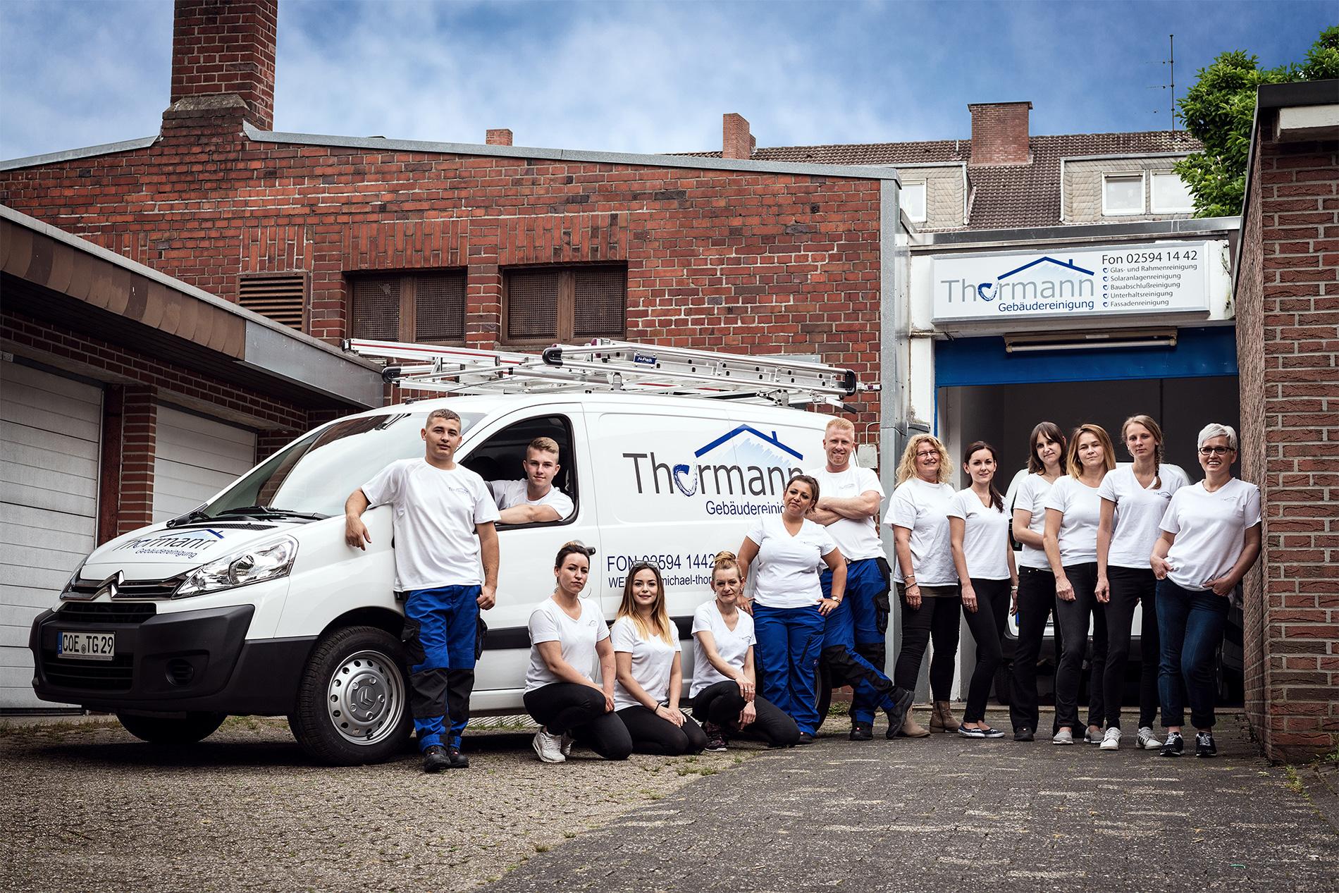 Team der Gebäudereinigung Dülmen Michael Thormann